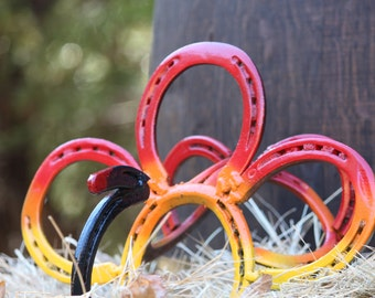 Horseshoe Turkey / Fall decorations / Cute housewarming gift/