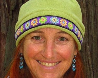 Stylish and Warm Fleece Hat (Color - Pistachio, Green)  Size - Small