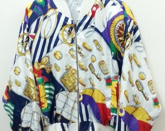 Striking Design// GDT Too// Jacket Zipper//Colorful//One Size
