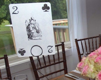 Alice in Wonderland Playing Card Reception Table Numbers