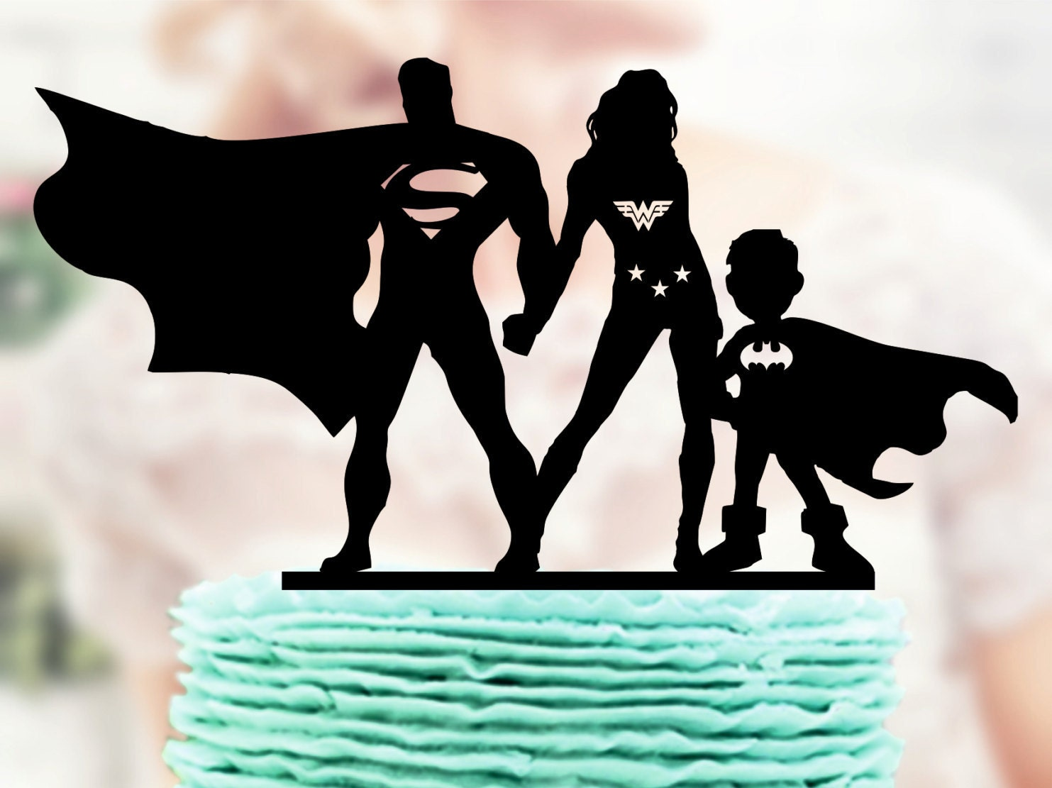 Superman And Wonder Woman With Kids Super Hero Family