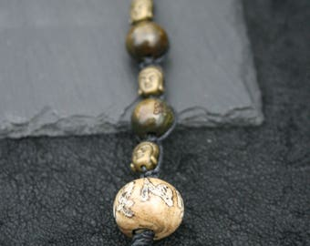 Tibetan mantra and buddha keychain