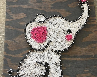 Elephant String Art Etsy
