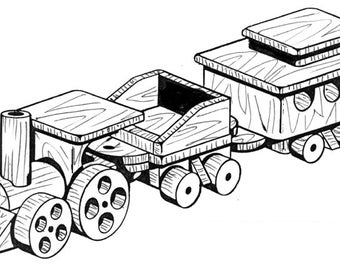 Old Time Train #201 - Woodworking / Craft Patterns