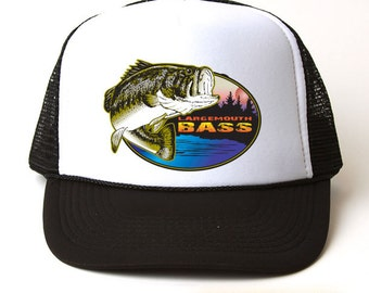 Largemouth Bass Fishing Trucker Hat