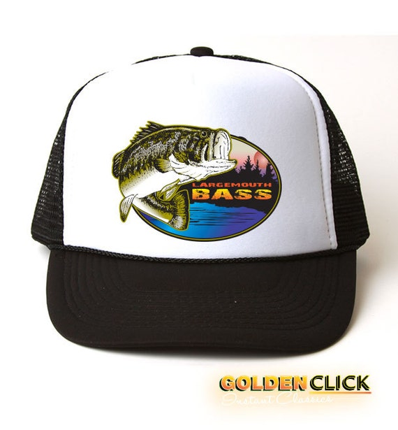 Largemouth bass fishing trucker hat for Bass fishing hats