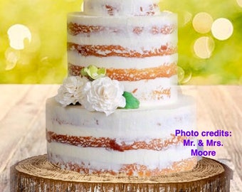 Wood Slice Wedding Cake Supplies Woodland Rustic Stand Table Decor