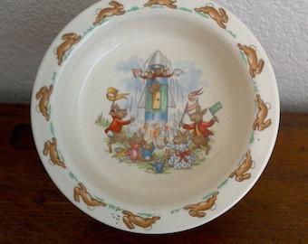 "20% off Beautiful Royal Doulton Tableware Bunnykins ""Rocketship"" Pattern"