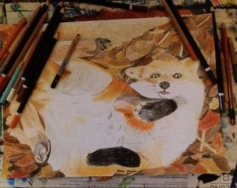 Custom pet pencil portrait Drawing wildlife Gift Idea portraits on Commission