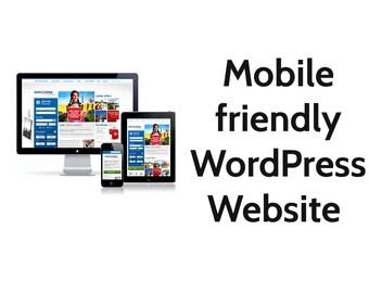 build mobile friendly WordPress website or blog
