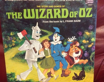 1969 Disney The Wizard of Oz Record and Book LP 33 1/3 rpm