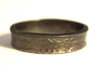 Coin ring, coin ring 9 1/2 size(USA) / Größe(DE) 19.5;size/Größe(mm/inches): 61 / 2 1/2