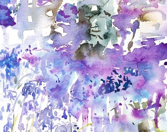 Bluebell Woods/Spring Bluebells Watercolour Original