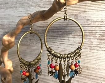 Bronze Creole earrings