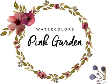 Flowers watercolors, clipart watercolors