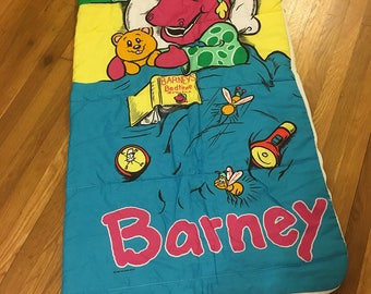 1992 barney sleeping bag