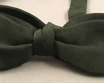 Vintage french 1950 silk black bow tie