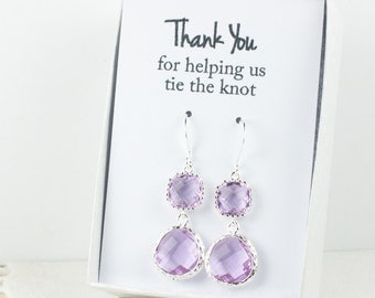 Long Lavender Silver Earrings, June Birthstone Earrings, Purple Silver Earrings, Bridesmaid Earrings, Lavender Wedding Jewelry