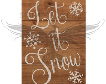 Christmas SVG Cut File | Let It Snow svg | Christmas sign svg | Snowflakes svg | Christmas SVG design | Christmas SVG sayings
