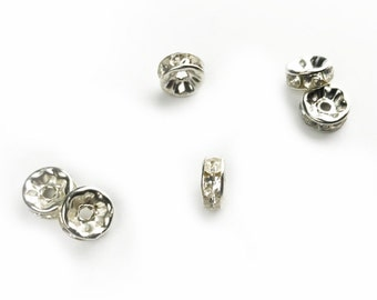 5pc bead separator with rhinestones