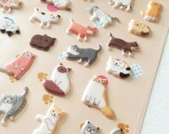 Sonia Kawaii Lovely Kitty Cat Sticker Paper Die Cut Deco Sticker 3D