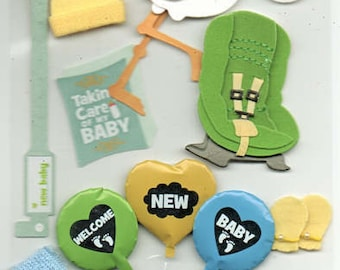 New Baby Jolee's Boutique Scrapbook Stickers Embellishments Cardmaking Crafts