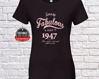 71st birthday women, 71st birthday gifts for women, Sassy fabulous since 1947 , 71st birthday tshirt , 71st women, 71st Sassy fabulous ,
