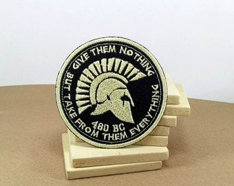 Patch of Sparta - (7 cm) - with the quote of King Leonidas before the battle start in 300 film.