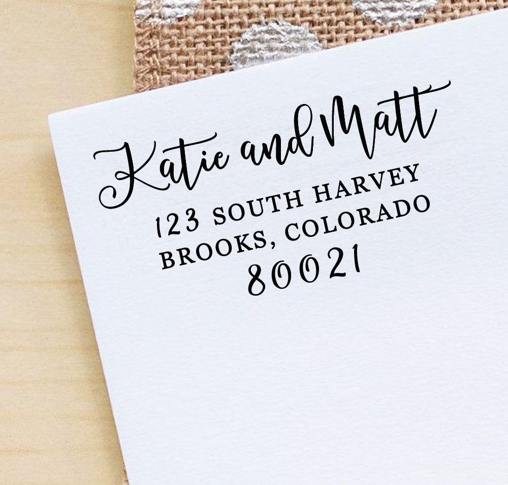 Rustic Wedding Stamp Calligraphy Stamp Custom Save The