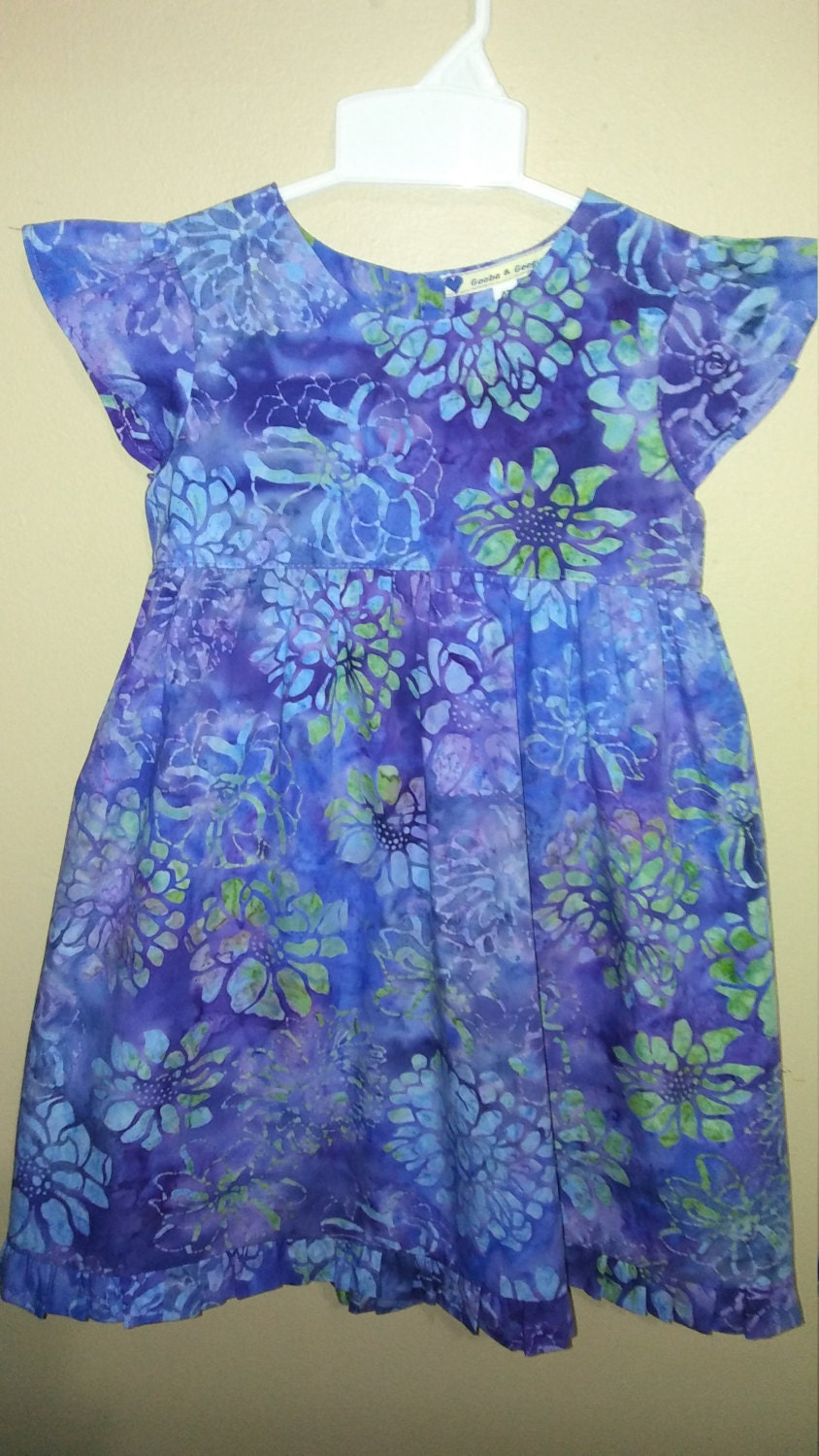 T4 childrens dress cotton batik fabric summer dress for Childrens dress fabric