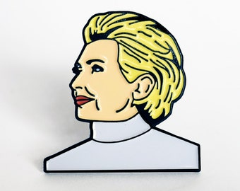 SALE Hillary Clinton Enamel Pin, Feminist Pin Flair, Hat Lapel Pin, Political Pins, Campaign Buttons, Women's March, Nasty Woman, Pin Badge