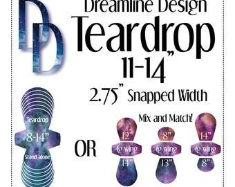 "2.75"" - 4 Sizes - Teardrop Nighttime Bundle - 11"" - 14"" - Cloth Menstrual Pad Pattern - PDF - Dreamline Design"