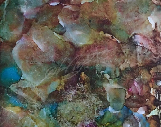 "Original Alcohol Ink Abstract: ""Rock Solid Fantasies"" (23 x 35"")"