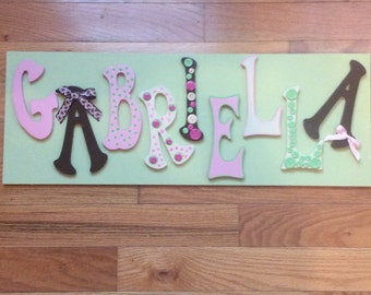 Buttons & Bows Little Girls's Name Sign