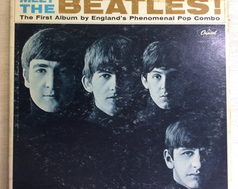 Rock LP Meet The Beatles! Vintage Capitol Records Vinyl Lennon McCartney