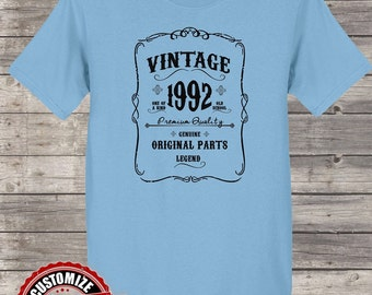 Vintage 1992 Original Parts, 26th birthday gifts for women, 26th birthday gift, 26th birthday tshirt, gift for 26th Birthday for Women