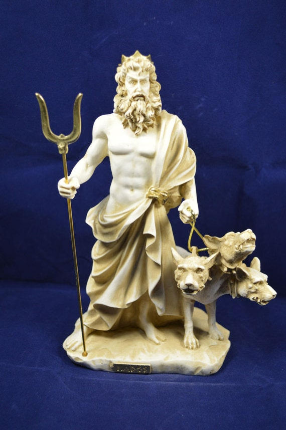 Hades sculpture cerberus ancient Greek God of the underworld