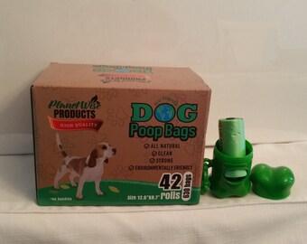 Poop Bags,Doggy Bags Plus Dispenser, Waste Bags, Poop Bags, Doggy Bag dispenser and leash Clip,Earth Friendly, Waste Clean up Poop bags dog