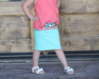 Reversible Pencil Skirt for Girls
