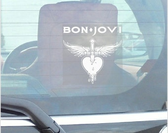 Jon Bon Jovi -Car Window Sticker-Fun,Self Adhesive Vinyl Sign for Truck,Van,Vehicle,Fun,Singer,Rock