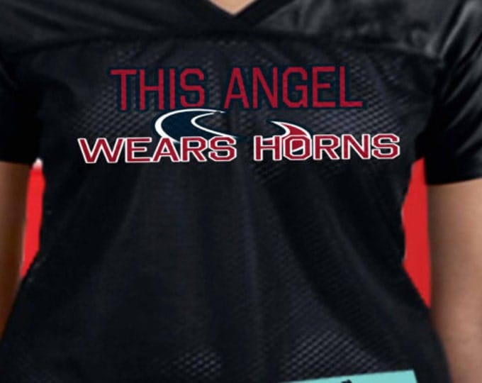 Houston Texans fans shirt, This angel wears horns, Texans shirt, Good gift for Texans fans, Texans jersey womens