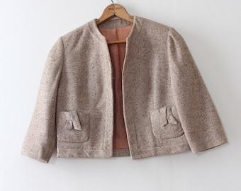 CLEARANCE vintage 1960s jacket // 60s cropped wool jacket