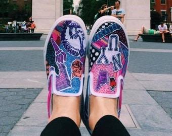 New York University Custom Sneakers