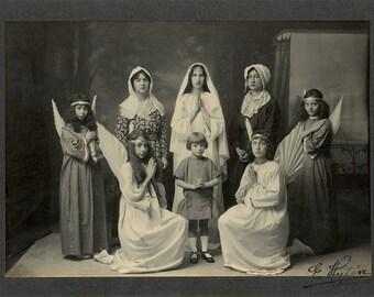 Old photo - vintage - group - Angels - angels / Eugène Hutin