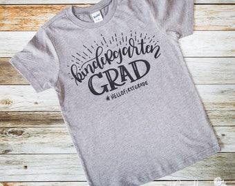 Kindergarten Graduation Shirt - Kindergarten shirt - Kindergarten Grad - Kindergarten Graduation Tee - Last Day of School Shirt - Kinder Tee