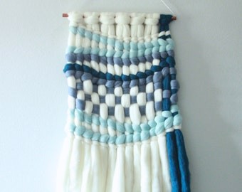 Baby Blue and Navy Wall Hanging