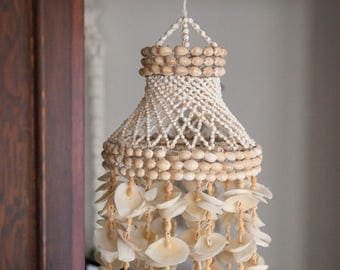 Vintage Seashell Chandelier