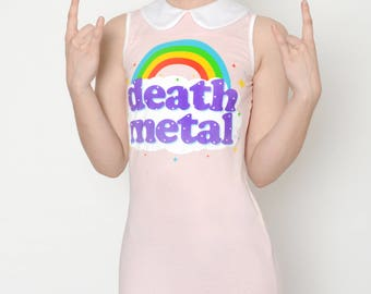 Death Metal Altered Tee Collar Dress