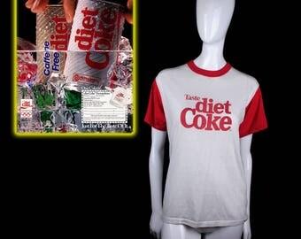1980's Diet Coke Ringer Neck T-Shirt