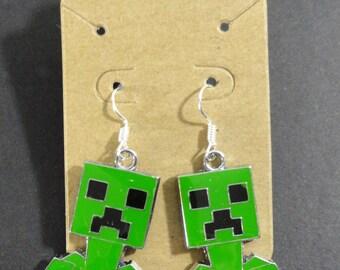 Minecraft Creeper Dangle Earrings Jewelry